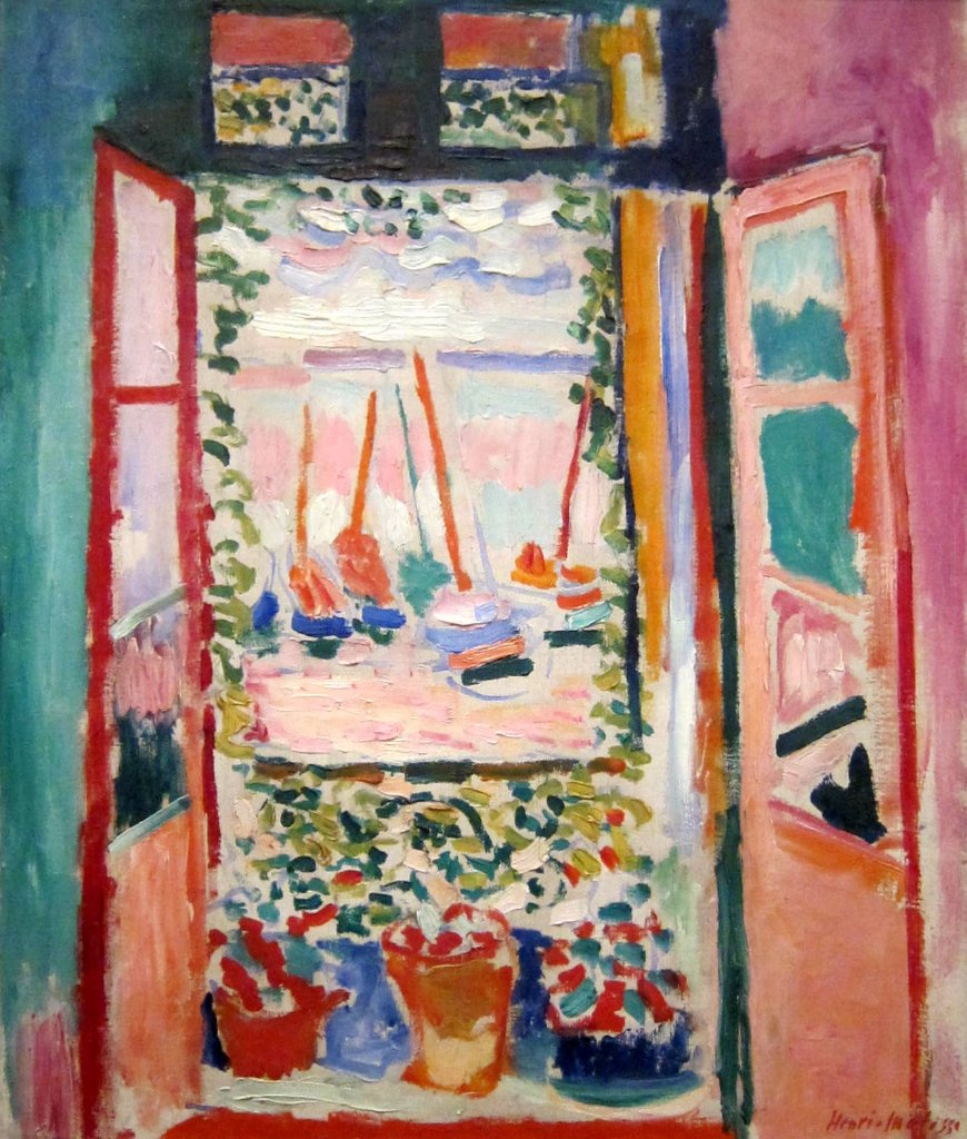 Arts visuels henri matisse ecole sainte anne casson for Fenetre sur rue