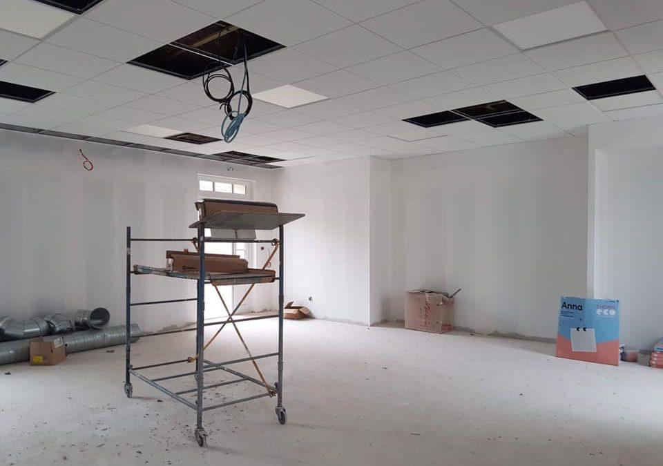 Peintures dans le nouveau bâtiment
